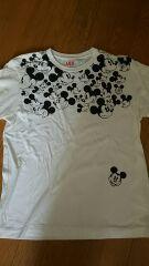 ユニクロ メンズSサイズ ミッキー半袖Tシャツ ホワイト