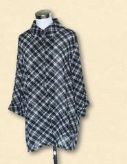 シースルーチェックシャツ5L大きいサイズ