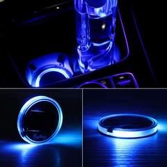 LEDマット 車用 防水ソーラー充電式 カップコースター