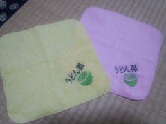 新品香川県限定うどん県刺繍入りハンドタオルまとめ売り