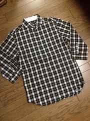 美品BOYCOTT 7分丈チェックシャツ 日本製 ボイコット