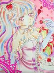ロリータ少女の生写真(ピンク系)
