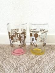 ディズニー ミッキー・ミニー・ドナルド・デイジー・プルート グラス2個セット