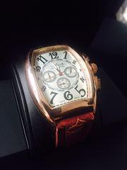 高級感ある大人の腕時計★バレル型★クラブファイス茶