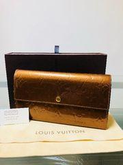 1円 ◆正規品◆ 良品 ◆ ルイヴィトン ヴェルニ ブロンズ 長財布