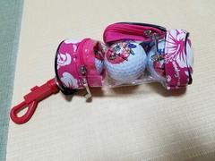 グアムロゴ☆新品ゴルフボール☆3個入☆ピンク