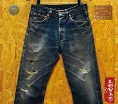 ◆廃盤◆米国製リーバイス501ダメージ加工W28(76cm)・股下70cm