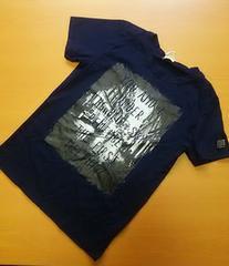 紺 背中ロゴ Tシャツ(160)