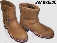 AVIREXアビレックス新品ショート エンジニア ブーツ2225茶us9