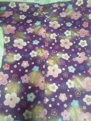 ☆新柄紫×着物風金彩桜柄ダボシャツL