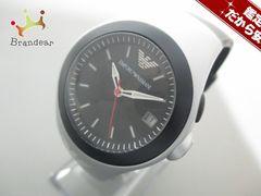 アルマーニ 腕時計 美品 AR-1105 ボーイズ ラバーベルト 黒