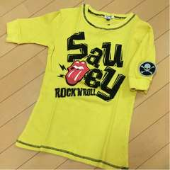 新品◆ローリングストーンズ◆ワッフル五分袖Tシャツ◆160