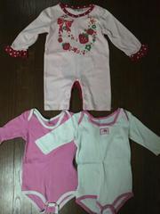 ベビー/Baby ロンパース&肌着◆女の子♪ピンク系3点set!