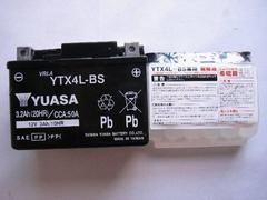◆バイクバッテリー ユアサ YTX4L-BS トゥデイ AF61 Dio AF62