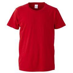 4.7オンス ファインジャージー Tシャツ レッド Lサイズ