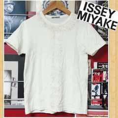 ISSEY MIYAKE イッセイミヤケ フリンジ Tシャツ M 日本製 オフホワイト