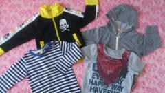 子供服まとめ売り☆パーカー、Tシャツ、Tシャツ等四点セット/90〜95