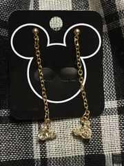 Disney ミッキーシップ クリスタル ゴールド ピアス DP#20