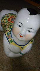 景徳鎮…大窯業地色絵童子飾り置物