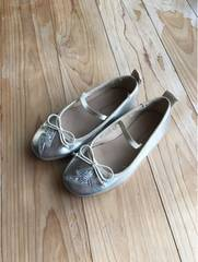 ZARA ザラキッズ ガールズ 靴 バレーシューズ シルバー 17.5�p