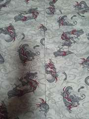 ☆新品白×雲海龍玉柄ダボシャツ140