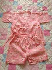 うさぎ柄 甚平 95cm 女の子 ピンク