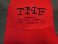 ノースフェイス【NORTHFACE】【TNF】 ロゴプリントCAP赤