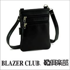 【BLAZER CLUB】☆ミニショルダー 18×23×1cm 国産 黒 送料無