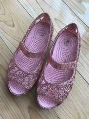 キッズ クロックス サンダル シューズ 靴 19 イザベラグリッター