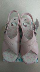 LLサイズピンク色のサンダル新品キティちゃん