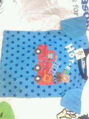 新品タグ付きミキハウスTシャツ青