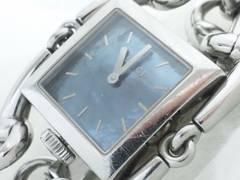 5146/GUCCIグッチ★定価20万円116.3ブレスレットレディース腕時計/ブルーシェル
