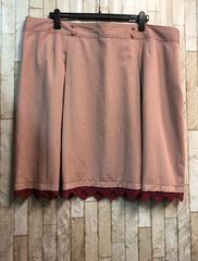 新品☆8L落ち着いたピンクのひざ丈スカート7549円を☆j212