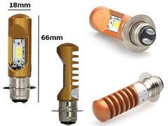 12vバイク用/直流交流兼用LED P15Dヘッドライト/白HiLo切替6000k