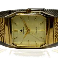 極レア【カットガラス】BUREN【レトロ】メンズ腕時計