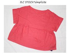 B.C STOCK*simpliciteリネンサイドギャザープルオーバー新品ピンク