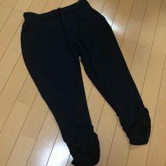 新品◆千趣会◆ジャージクロップドパンツ◆W67ブラック