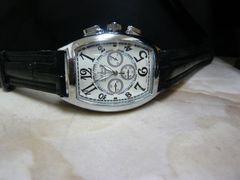 新品 腕時計 クロノグラフ風シルバー/フランクミュラー好きに