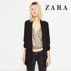 ZARA◆ビッグシルエットのブラックジャケット♪スプリングコート