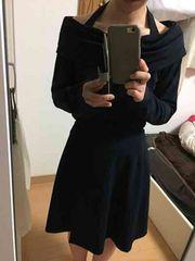ロートレアモンLAUTREAMONT★ネイビー セットアップ巻きスカート