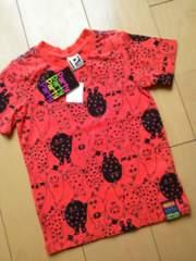 新品総柄半袖Tシャツ110赤partyparty