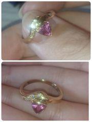 K18☆ダイヤモンド付きピンク☆激かわリング♪♪