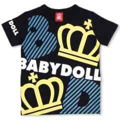 新品BABYDOLL☆ロゴ&王冠 Tシャツ 110黒 ベビードール
