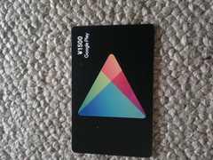 新品未開封GooglePlay1500ギフトカード音楽アプリゲーム課金に