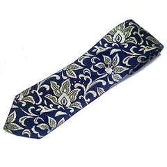 送料無料 花柄 シルク 絹100% ネクタイ 送料込み