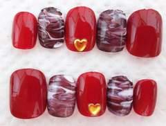 ジェル:バレンタイン/チョコマーブル ネイルチップ