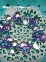 『手づくり』Heartのブレスレット(purple)
