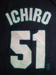 野球 アメリカ メジャー 大リーグ マリナーズ イチロー プリント Tシャツ ネイビー Mサイズ