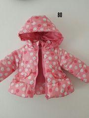 ピンクに水玉冬物ジャンパー
