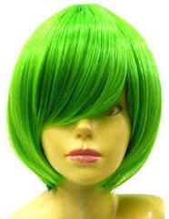 即納☆耐熱☆即決 フルウィッグ ショートボブ2 緑/グリーン L3